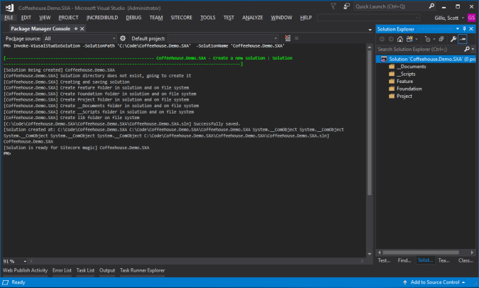 Helix - Open Package Manager Console